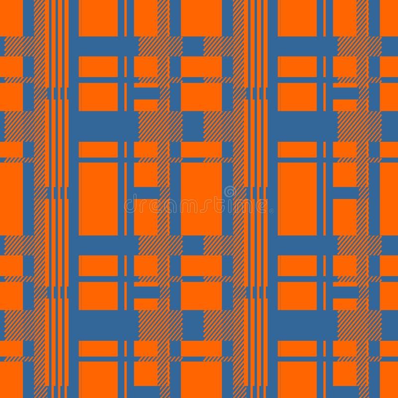 Vetor sem emenda do teste padrão da manta de tartã da flanela ilustração stock