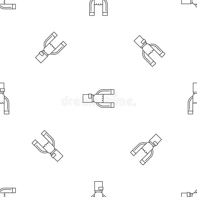 Vetor sem emenda do teste padrão da retenção do cliente do ímã ilustração do vetor