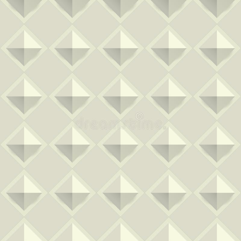 Vetor sem emenda do teste padrão da textura da geometria ilustração do vetor