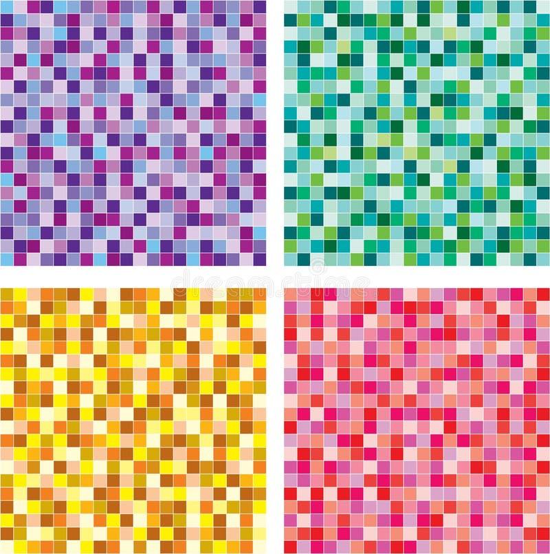 Vetor sem emenda do teste padrão de mosaico ilustração do vetor