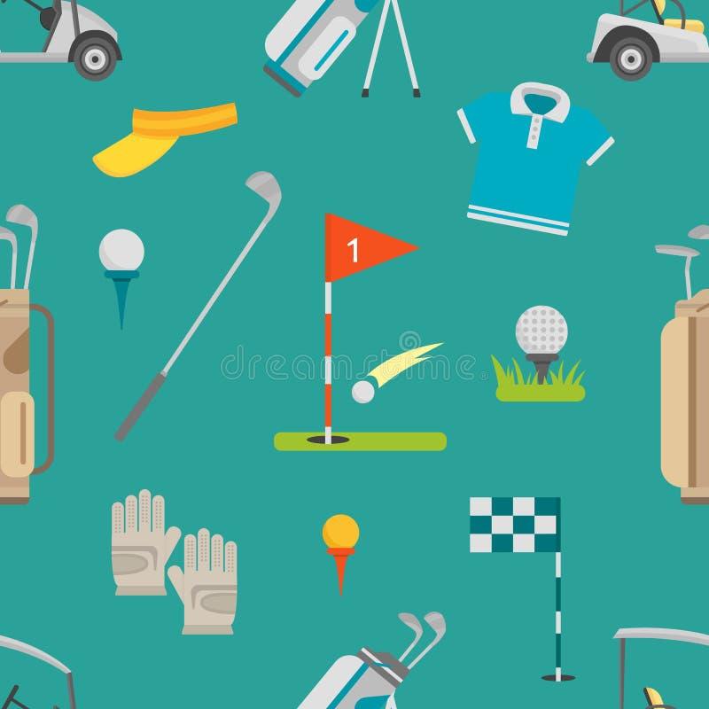Vetor sem emenda do teste padrão do golfe ilustração do vetor