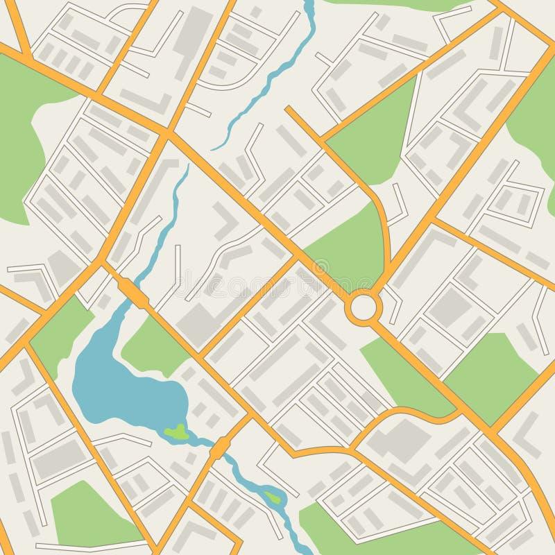Vetor sem emenda do teste padrão do sumário do mapa da cidade