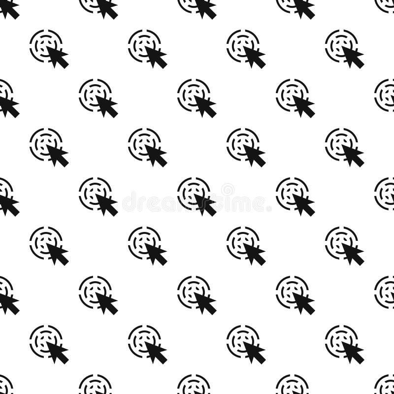 Vetor sem emenda do teste padrão interativo do cursor ilustração stock