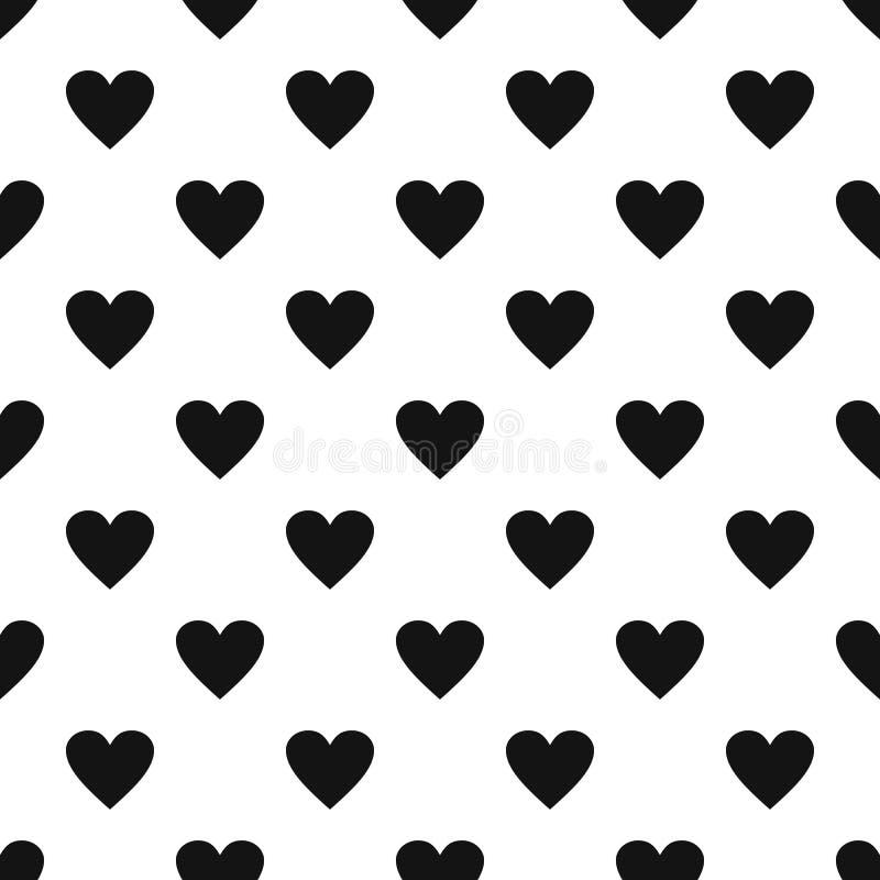 Vetor sem emenda do teste padrão maçante do coração ilustração royalty free