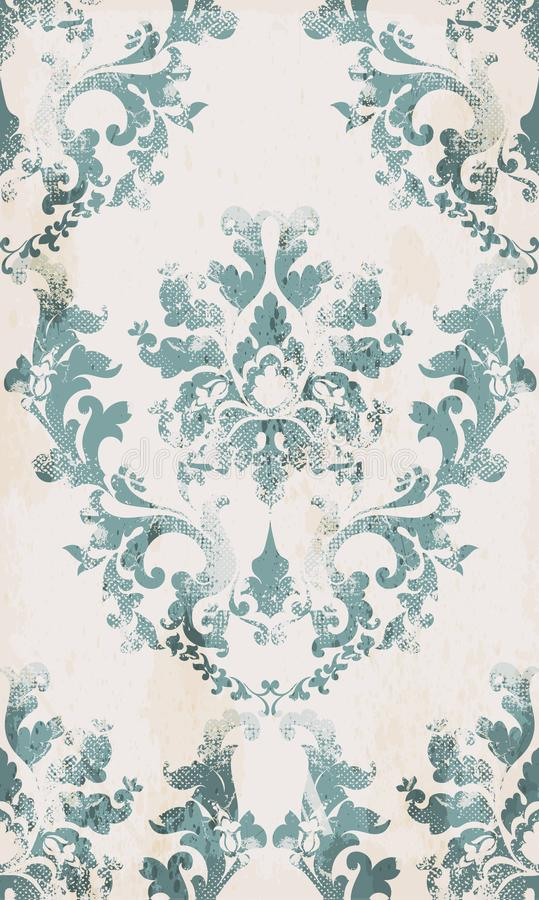 Vetor sem emenda do teste padrão do ornamento do vintage Fundo clássico barroco Textura vitoriano real Decoração pintada velha do ilustração royalty free