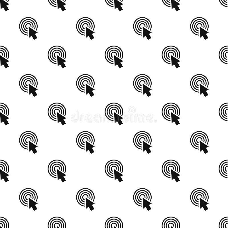 Vetor sem emenda do teste padrão redondo do clique do cursor ilustração stock