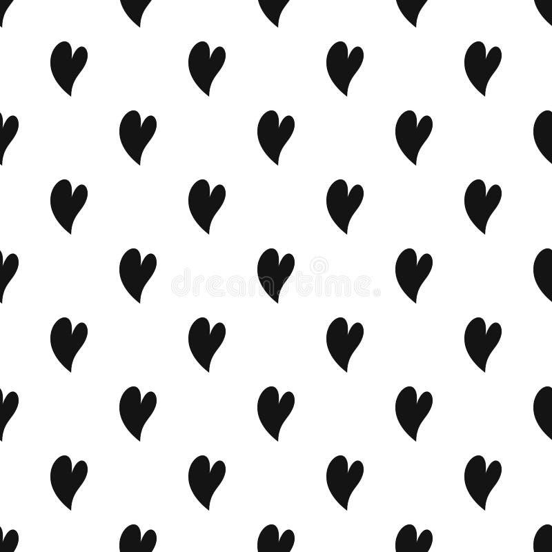 Vetor sem emenda do teste padrão surdo do coração ilustração royalty free