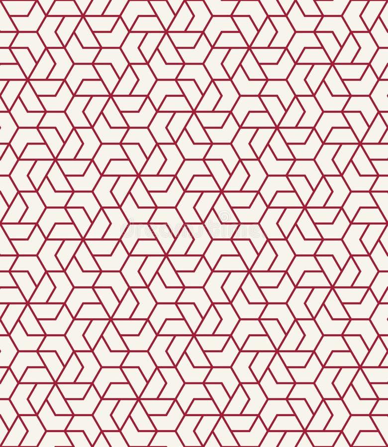 Vetor sem emenda gráfico do teste padrão da grade geométrica da telha ilustração do vetor