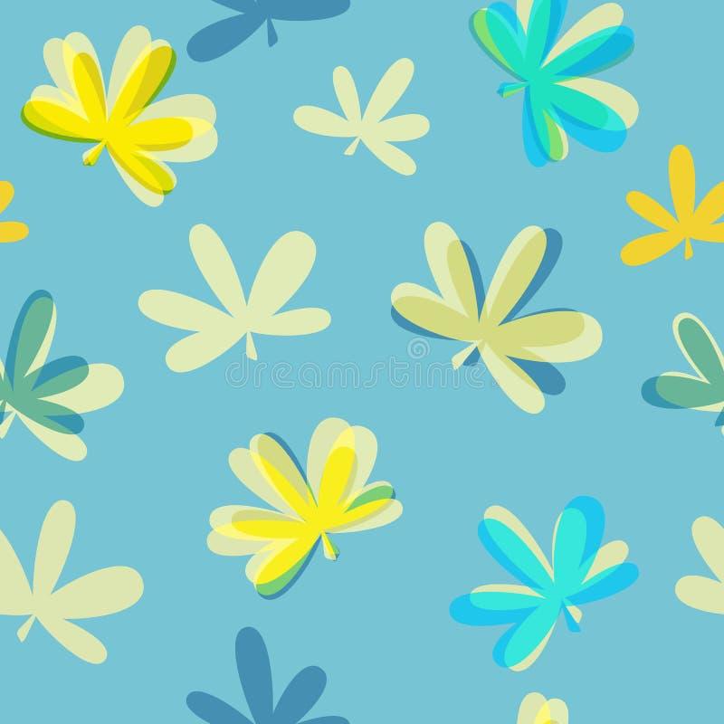 Vetor sem emenda Illus do fundo do teste padrão das folhas naturais abstratas ilustração stock