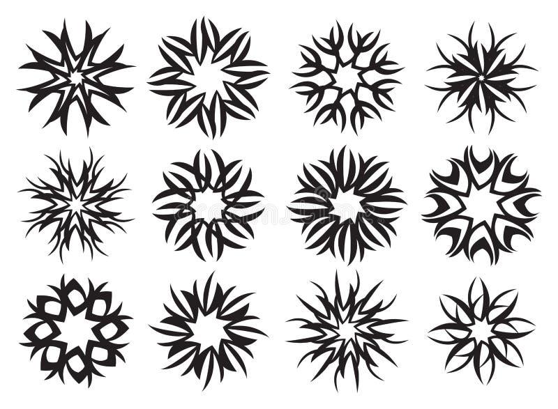 Vetor simétrico radial abstrato Illustrat do projeto do símbolo do teste padrão ilustração royalty free