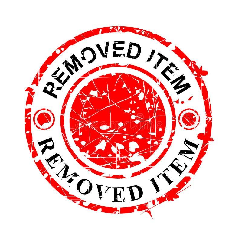 Vetor simples, carimbo de borracha vermelho do Grunge do círculo, artigo removido, isolado no branco ilustração stock