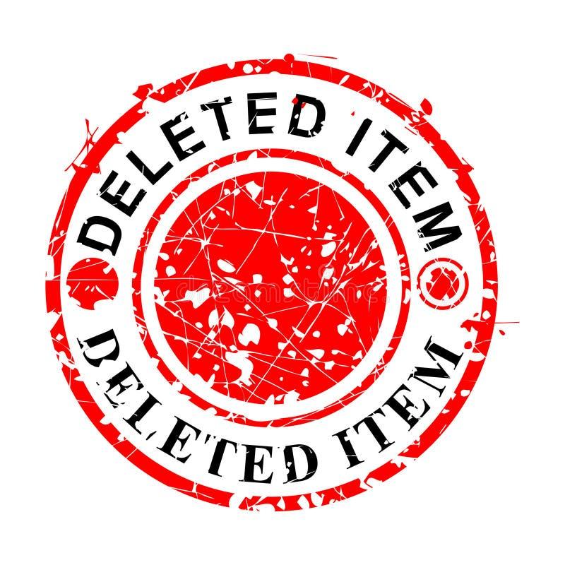 Vetor simples, carimbo de borracha vermelho do Grunge do círculo, artigo suprimido, isolado no branco ilustração royalty free