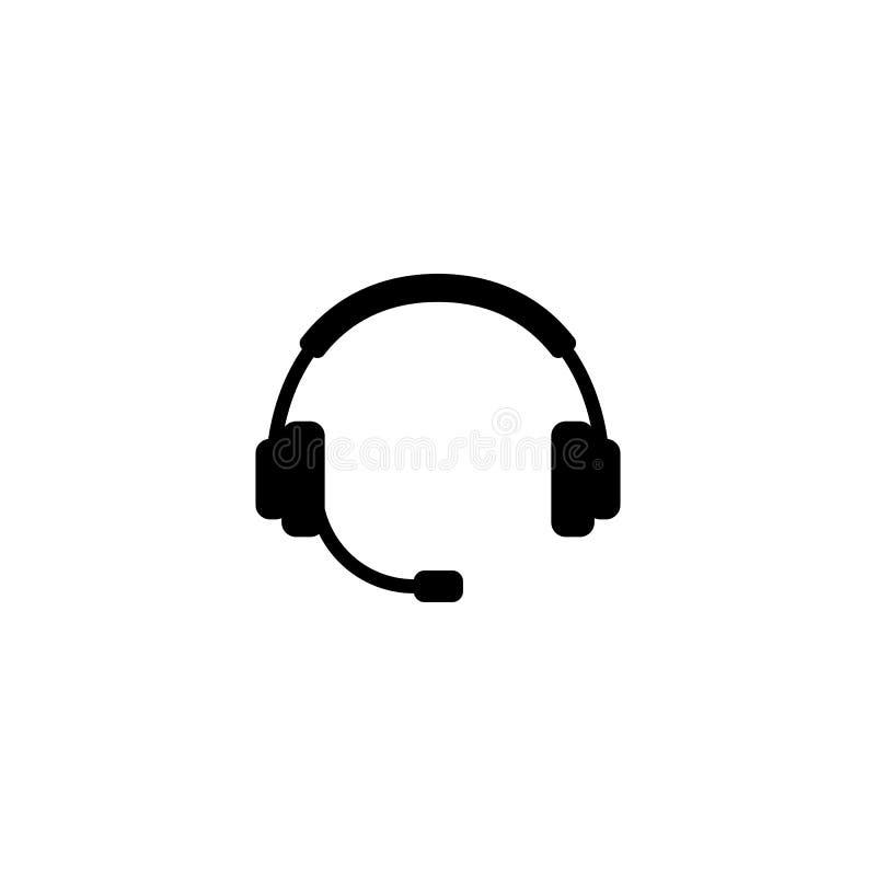 Vetor simples da silhueta do fones de ouvido ilustração do vetor