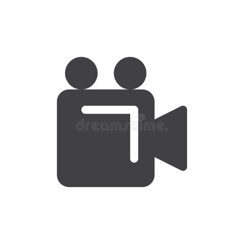 Vetor simples do ícone da câmara de vídeo ilustração royalty free
