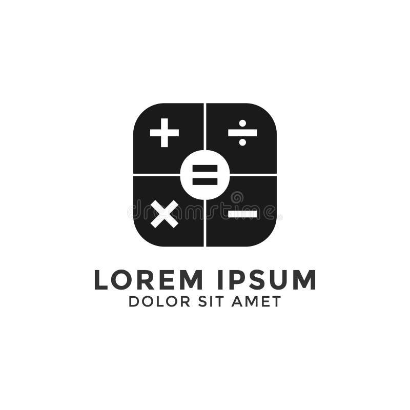 Vetor simples do molde do projeto do ícone do logotipo da calculadora ilustração do vetor