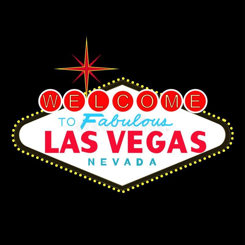 VETOR: Sinal De Las Vegas Na Noite (formato Do EPS Disponível) Fotografia de Stock