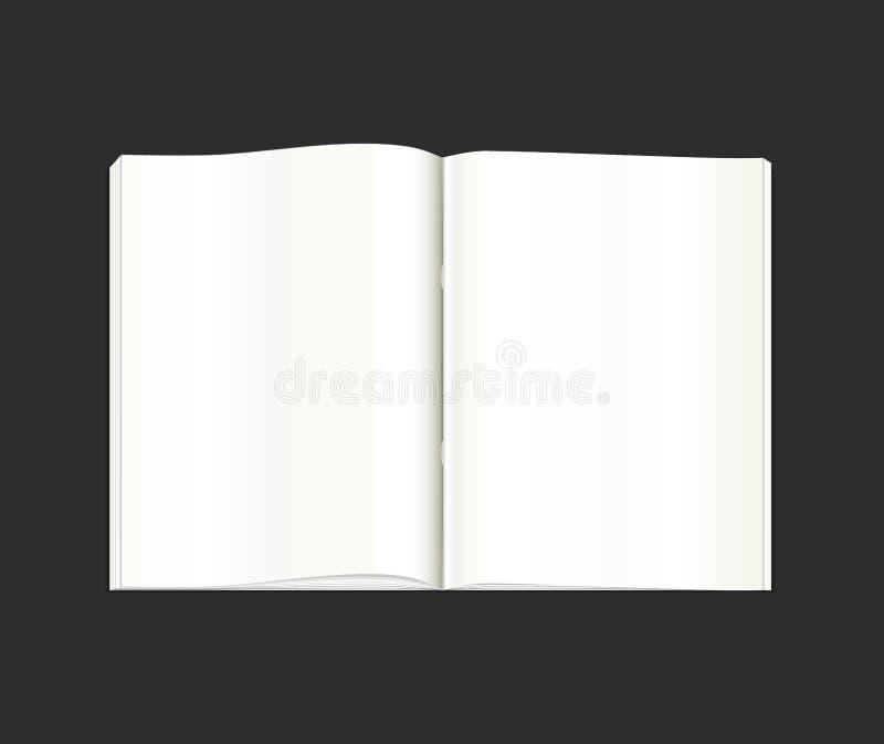 Vetor stationery Um livro de bolso aberto, diário, caderno, álbum de recortes, livro de texto, bloco de notas, organizador, livro ilustração stock