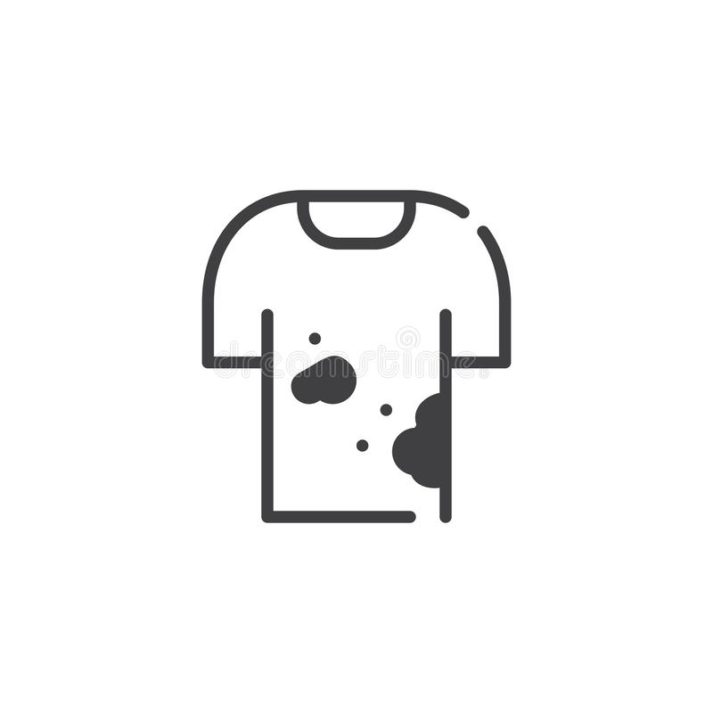 Vetor sujo do ícone da camisa ilustração stock