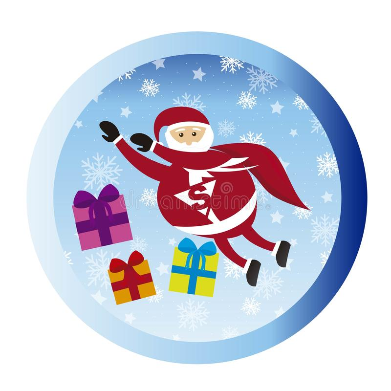 Vetor super de Papai Noel ilustração stock