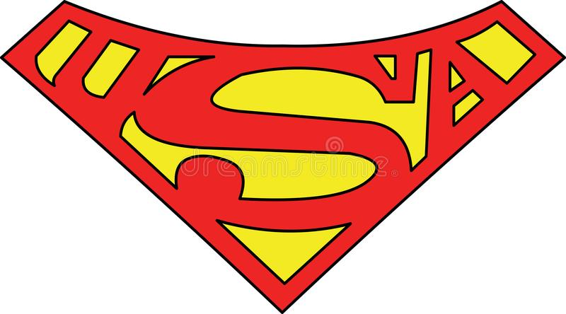 Vetor super do símbolo do homem S de uma nação dividida