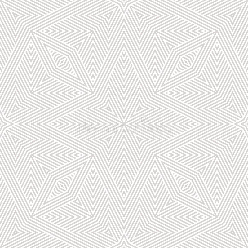 Vetor sutil branco e claro - linhas geométricas cinzentas Teste padrão sem emenda abstrato ilustração stock