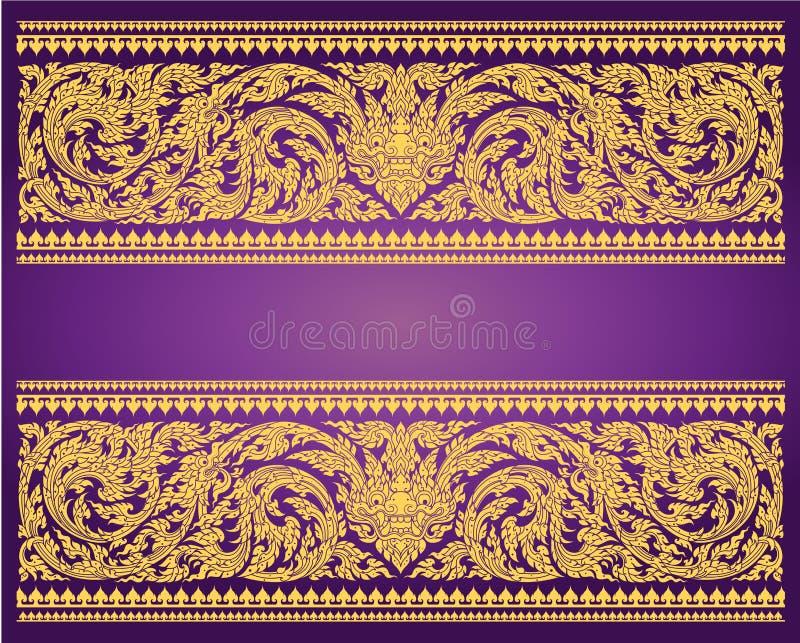 Vetor tailandês do teste padrão da arte de Art Background Thai ilustração royalty free