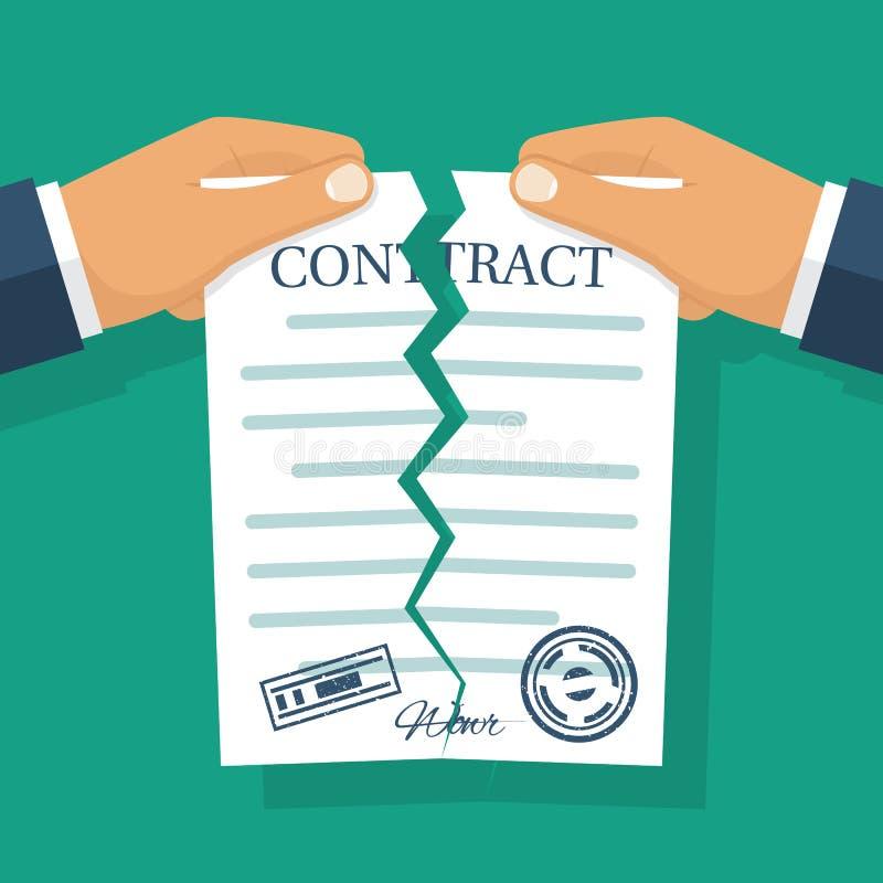 Vetor terminado do contrato ilustração royalty free