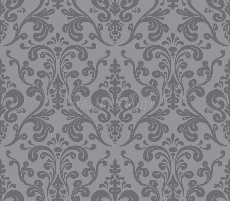 Vetor Teste padrão elegante sem emenda do damasco ilustração royalty free