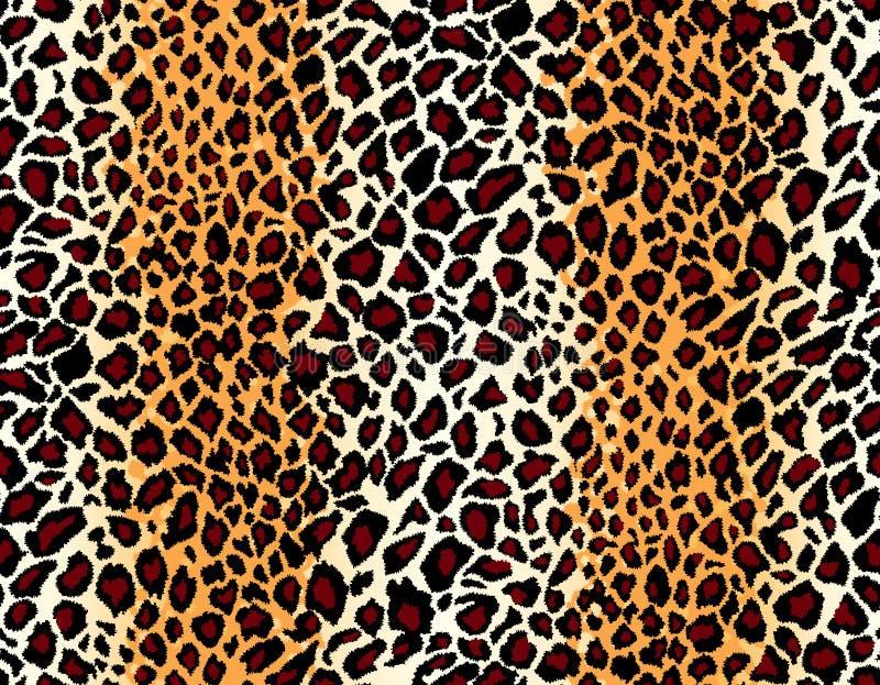 Vetor. Teste padrão sem emenda da pele do jaguar ilustração do vetor