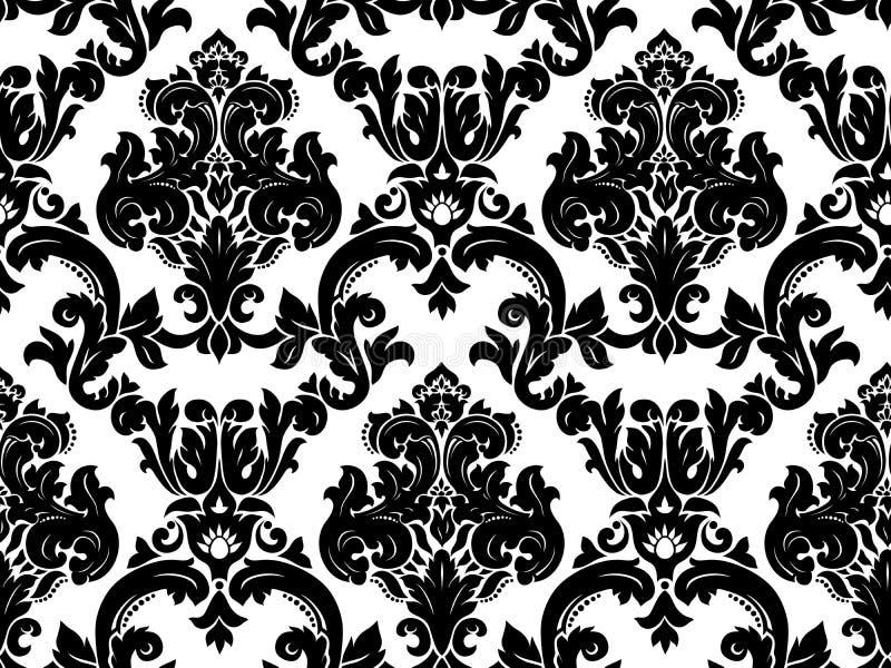 Vetor. Teste padrão sem emenda do damasco ilustração royalty free