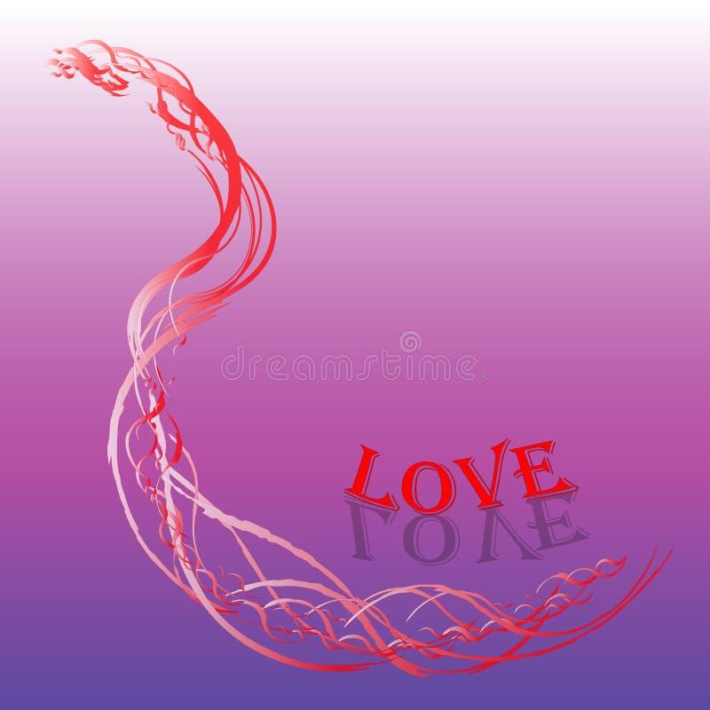 Vetor, texto do amor, fundo colorido, luxo foto de stock