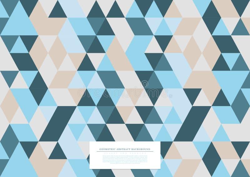Vetor triangular do molde do fundo da coleção abstrata geométrica do teste padrão ilustração stock