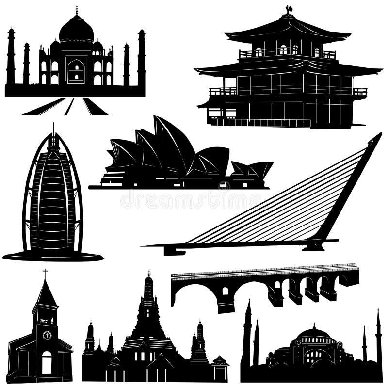 vetor urbano 2 do edifício da arquitetura ilustração do vetor