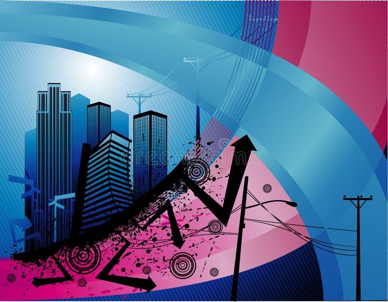 Vetor urbano abstrato ilustração royalty free