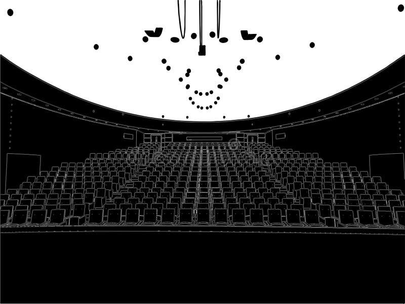 Vetor vazio 01 do teatro ilustração do vetor