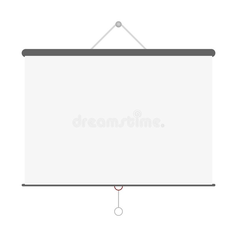 Vetor vazio cinzento da tela do projetor ilustração do vetor