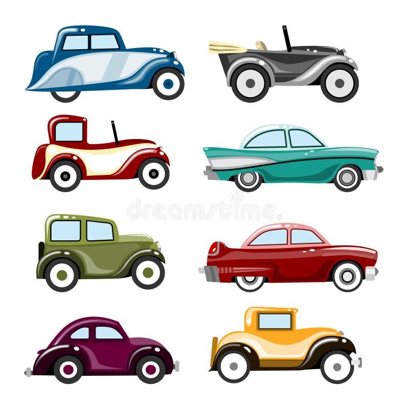 Vetor velho dos carros ilustração stock