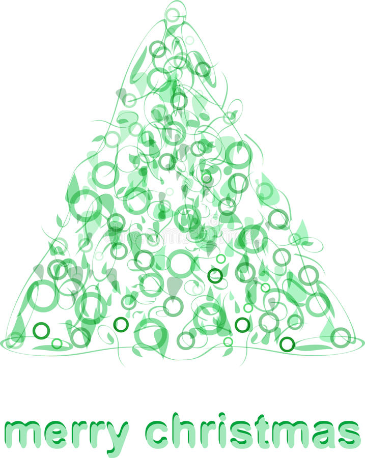 Vetor verde abstrato do cartão da árvore de Natal ilustração do vetor
