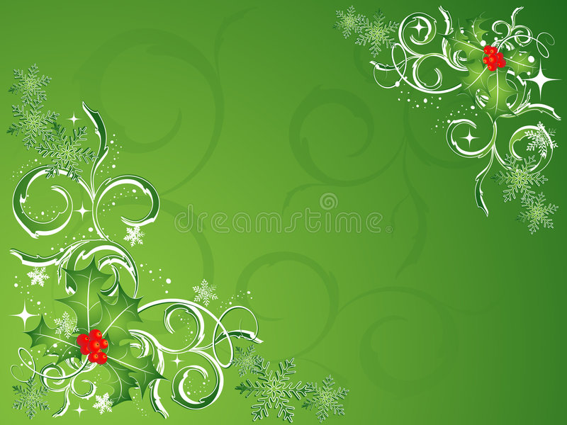 Vetor verde do Natal ilustração do vetor