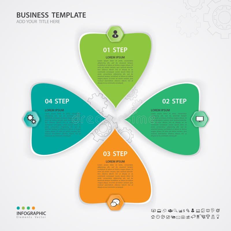 Vetor verde e alaranjado dos elementos de Infographic para o negócio, bandeira da Web, carta, o espaço temporal, gráfico ilustração stock