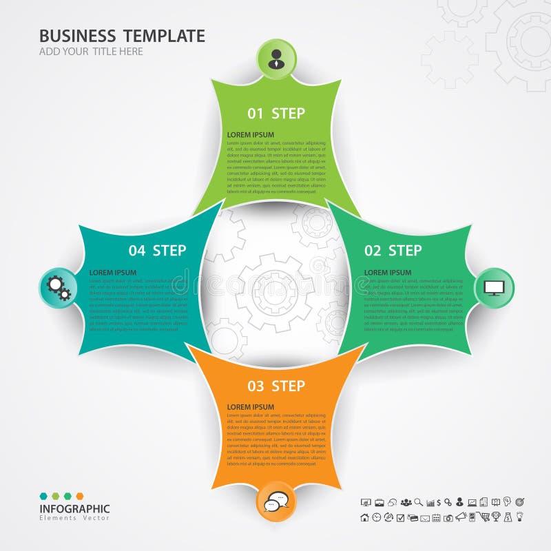 Vetor verde e alaranjado dos elementos de Infographic para o negócio, bandeira da Web, diagrama, carta, gráfico ilustração stock