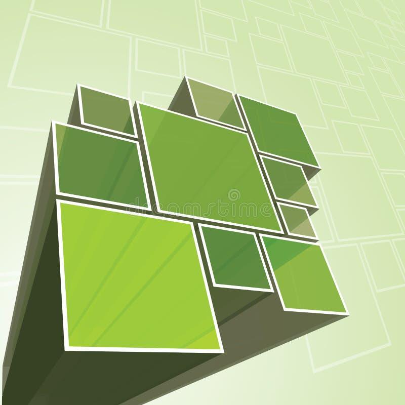 Vetor verde transparente abstrato do fundo de prisma ilustração royalty free
