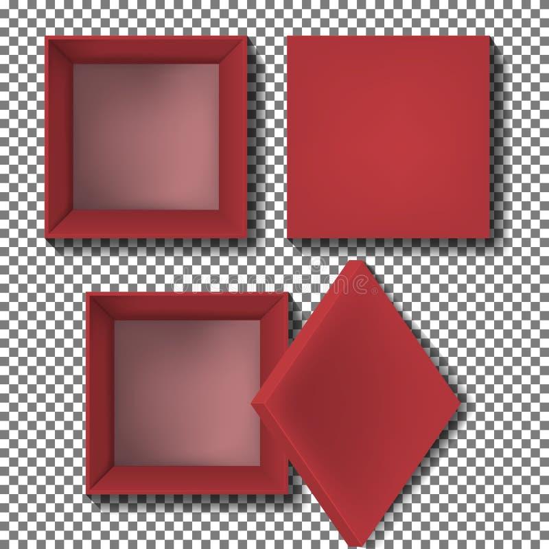 Vetor vermelho da caixa ilustração royalty free