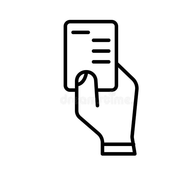 Vetor vermelho do ícone isolado no fundo branco, no sinal vermelho, na linha ou no sinal linear, projeto do elemento no estilo do ilustração stock