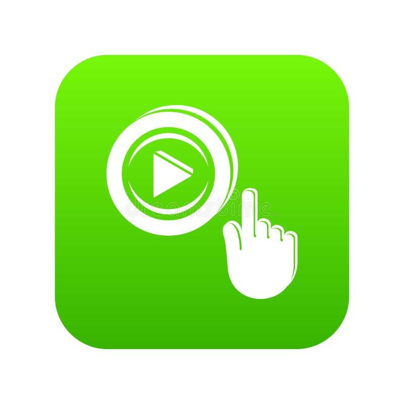 Vetor video do verde do ícone do jogo ilustração royalty free
