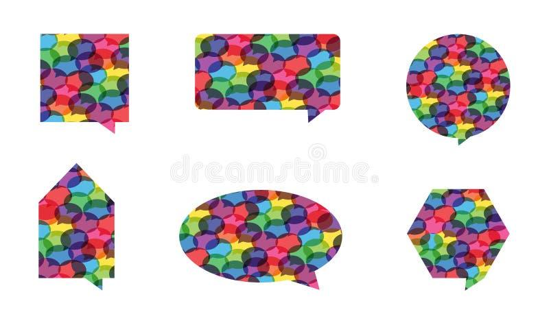 Vetores coloridos da bolha do discurso fotos de stock