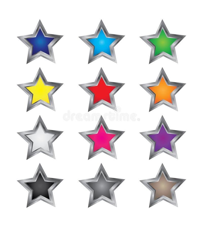 Vetores coloridos da estrela imagens de stock