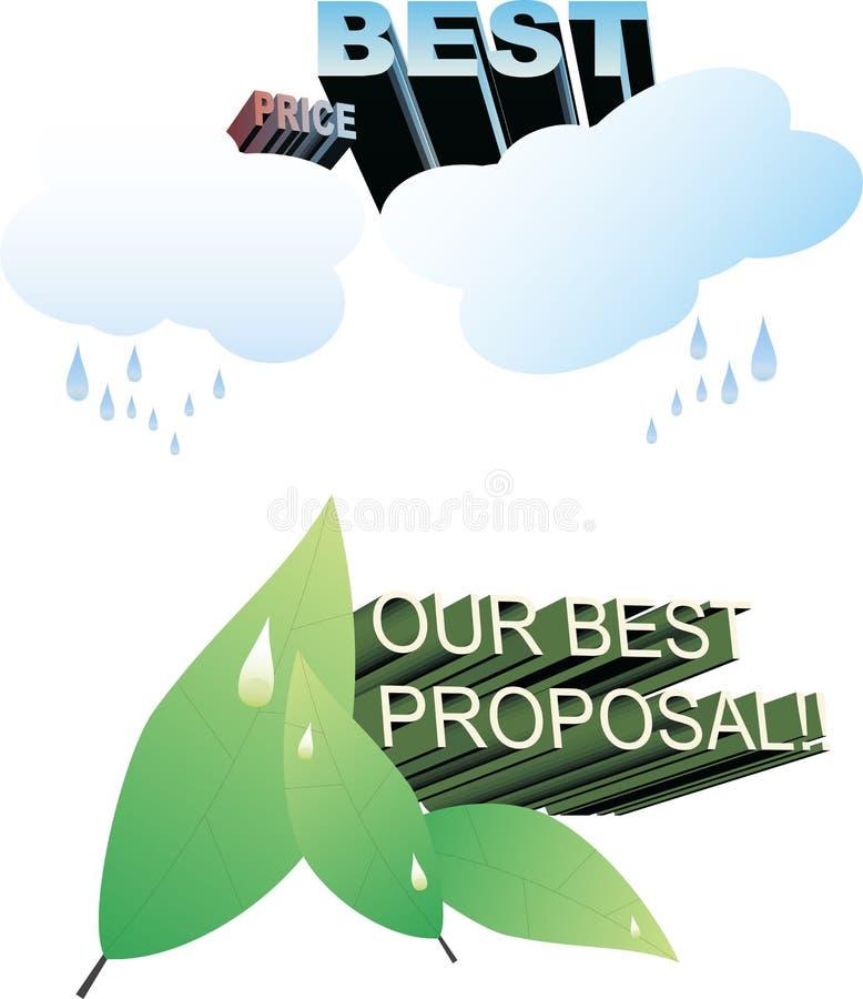 Vetores da natureza - anuncie ilustração royalty free