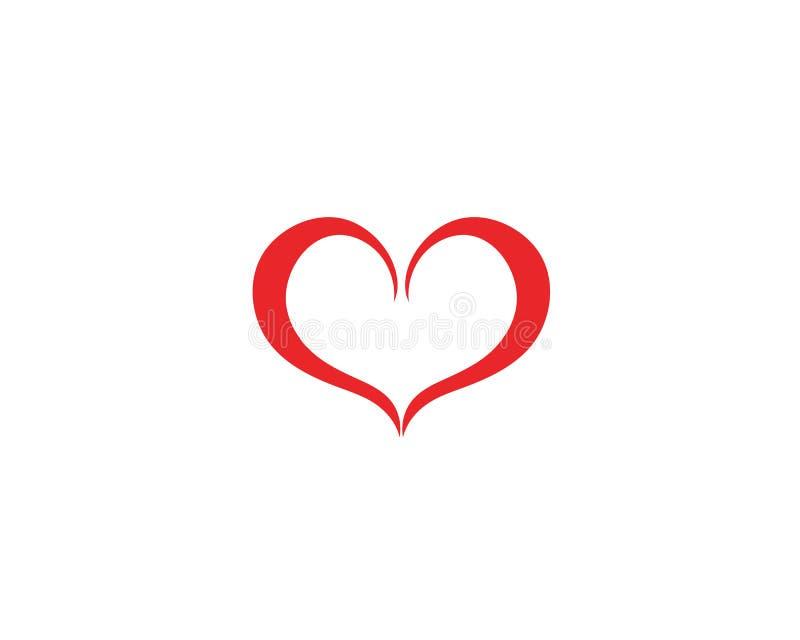 Vetores do logotipo do coração do amor ilustração do vetor