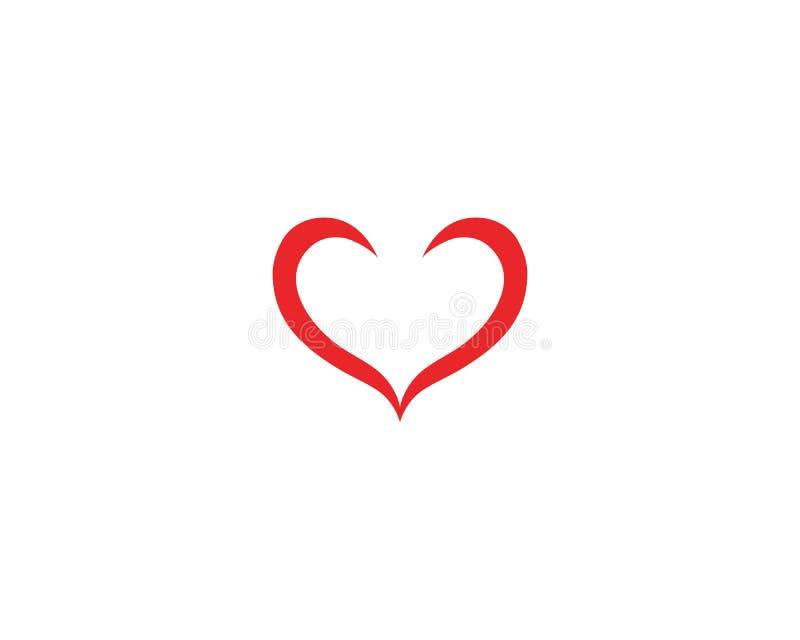 Vetores do logotipo do coração do amor ilustração royalty free